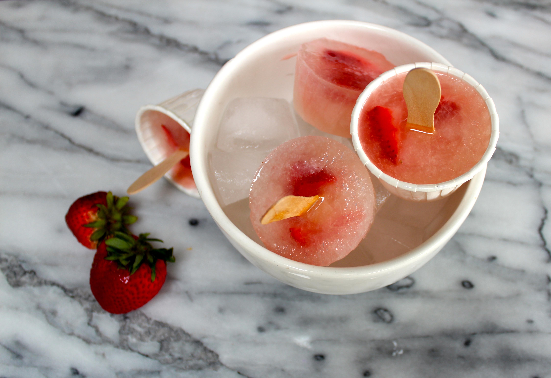 Strawberry Lemonade Ice Pops Recipe — Dishmaps